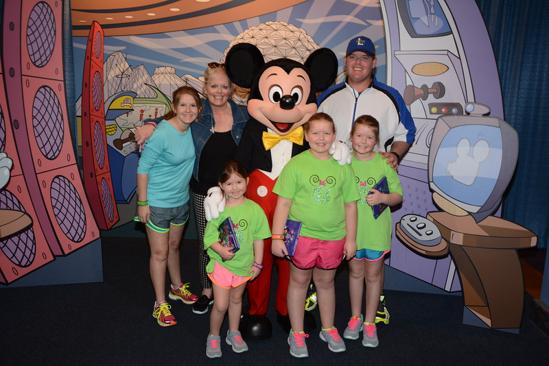 Mickey with the family