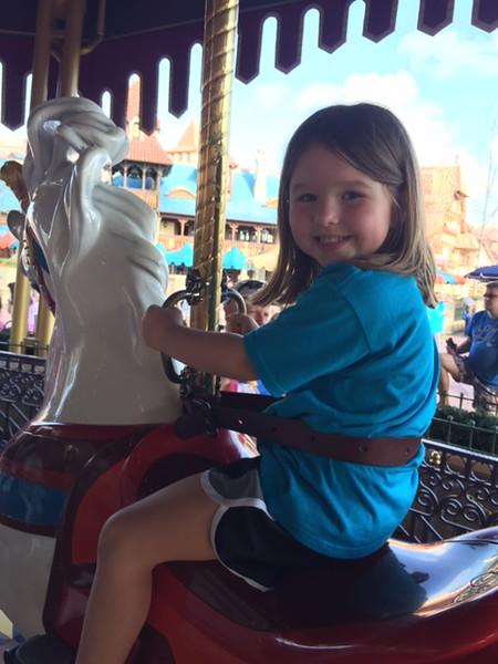 Carlyle enjoying the carousel