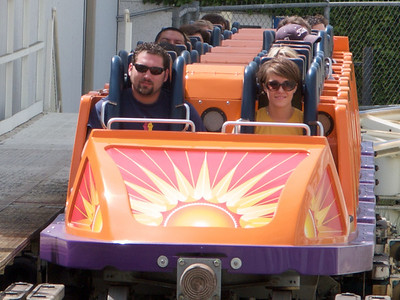 Sara and Michael Puma on California Screamin
