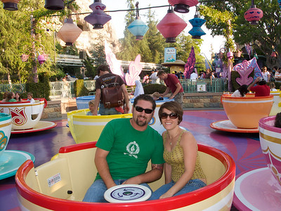 Sara and Michael Puma on the Tea Cups.