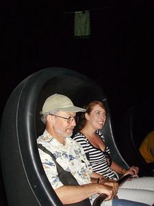 Joey & Edel on the Haunted Mansion ride