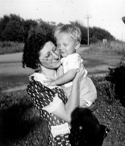 Dorothy Mowen - Don's Mother. Holding Don.