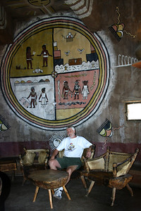 Don takes a break inside the Watchtower at Desert View - our first look at Grand Canyon