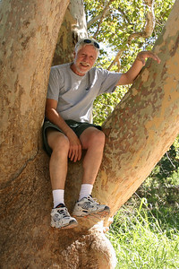"Don is ""Up A Tree"" at Montezuma Castle National Monument."