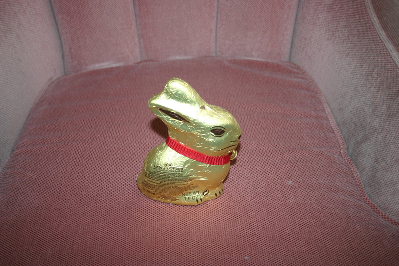 This Easter Bunny was on top of the desk, presumably a gift from Heather Weaver to Grandma.  Gregory has discarded it.