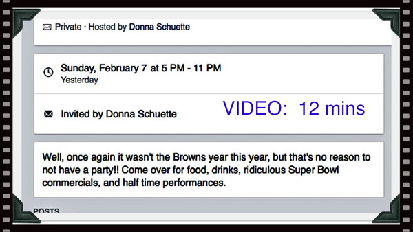 VIDEO:  12 MINUTES - Super Bowl 50 @ Donna's Sun., 02-07-2016--CLICK ON ABOVE IMAGE AND THEN ON RESULTING TRIANGLE AND AWAY YOU GO