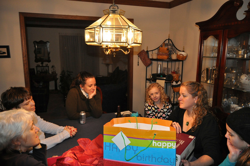 Sun., Jan. 14, 2012 -- Pre-party dinner and opening of presents for Donna -- 35th birthday.