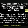 Video:  (Revised) 7 minutes ~~ Mia, Tue, May 23, 2017 at Bay Village, Huntington Beach, OH (Lake Erie)