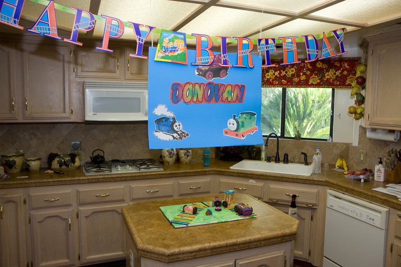 Miss Stacy, Donovan's day-care provider, always does a big party for each of her kids' birthdays.