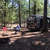 Very nice camping in the pines of Potawatomi State Park