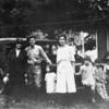 Grandma Sandel, Clarence Sandel, Geneva Patton, Doris Patton and hangers on. Atascadero ~1922