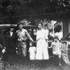 Grandma Sandel, Clarence Sandel, Geneva Patton, Doris Patton and hangers on. Atascadero ~1922