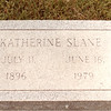 Katherine Slane Wood<br /> Headstone<br /> July 11, 1896-June 16, 1979<br /> Died at age 83 in Hazlehurst, MS<br /> Hazlehurst Cemetery