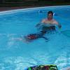 Luke swimming underwater