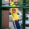 Luke on the monkey bars