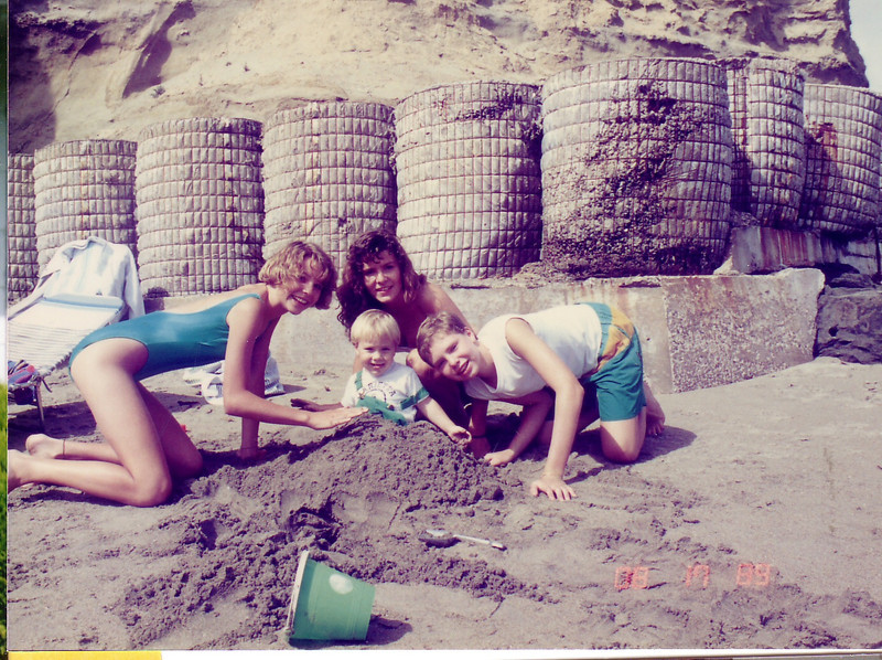 Grandchildren (Lynn's kids)  Emily, Kymber, Douglas, and Johnnie 1989 at cottage  in Capitola