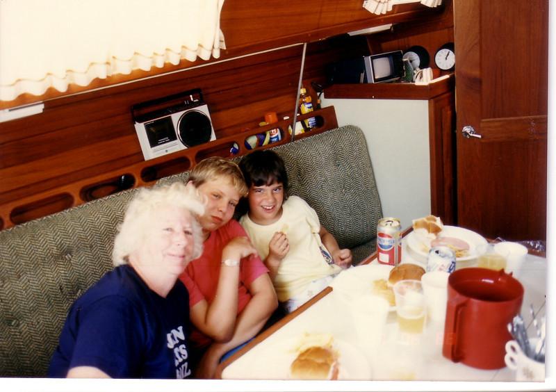 On Seaya:  Grandma with Johnnie and Leah