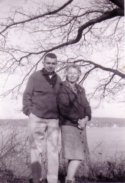 Doug and Jean Johnston on bank of Connecticut River