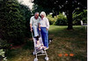 Grandpa and Grandma Johnston in Suffield w/Douglas 6/29/88