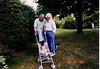 Grandpa and Grandma Johnston in Suffield w/Douglas 6/29/88