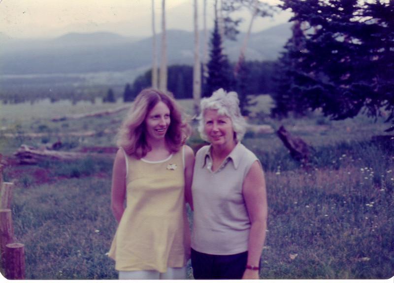 Lynn Curran (pregnant w/JP) and Jean Johnston in Flagstaff, AZ