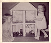 Lynn & Beth with their doll house
