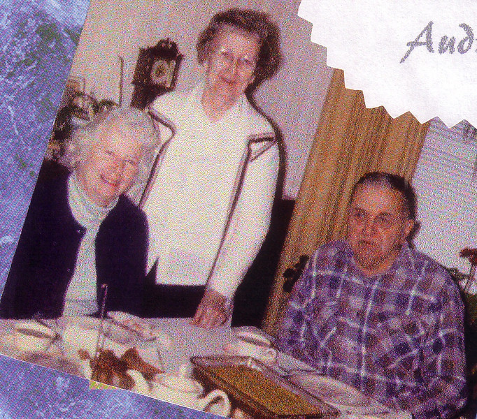 Jean, Aunt Peggy, and Doug