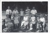 Aunt Lil, Grandpa J, Susan Sarle, Dad, Beth, Wilda, Steve, Doris & Sherwood Sarle, Laurie Jo, and Jean on the farm