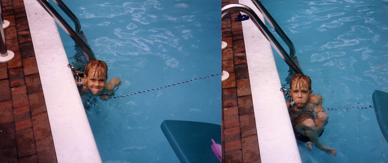 Grandson Douglas at Tracosas' pool?