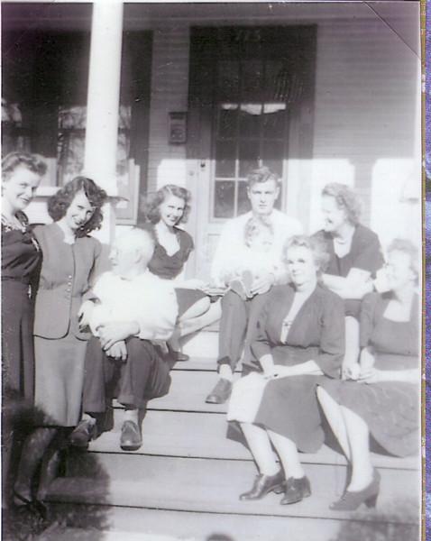 ?, Jean, ?, ?, Ken Nicholson, Aunt Katherine Nicholson, Stena Mac Iver, Annie Nicholson