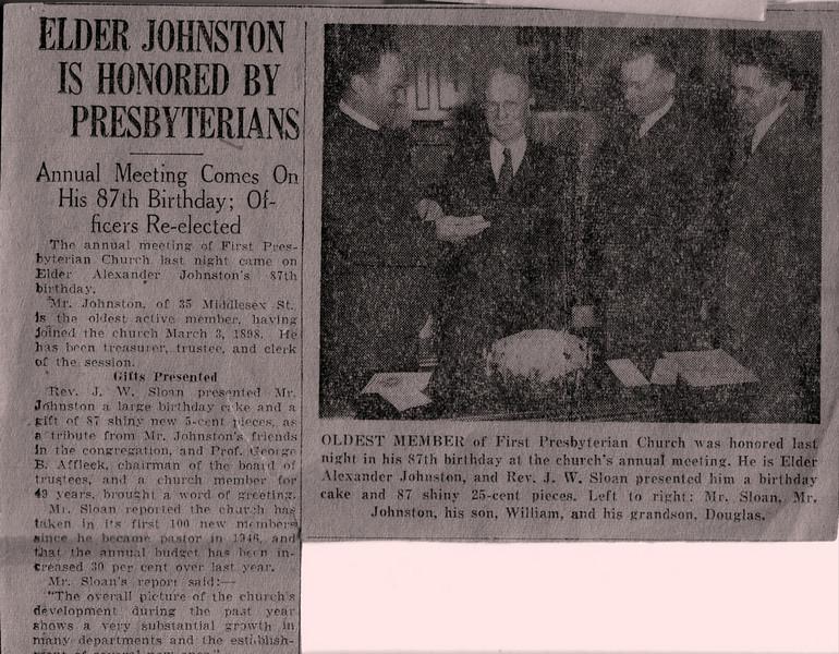 Alex, William, and Doug Johnston