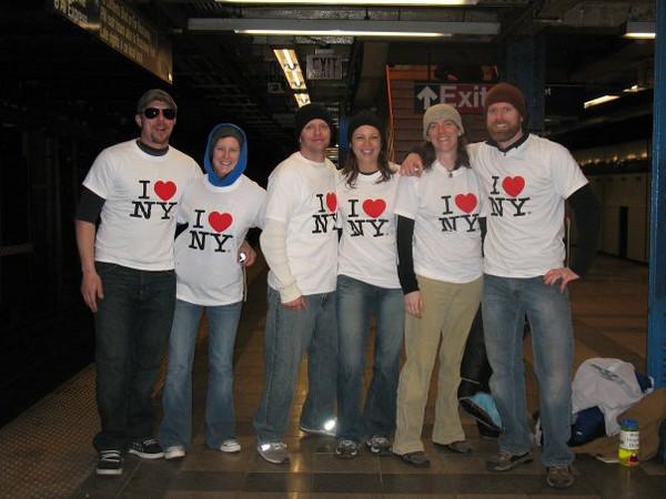The Caracoglia kids in NY for Leah's wedding 2009:  Scott, Jackie, John, ?, Malia, Matt