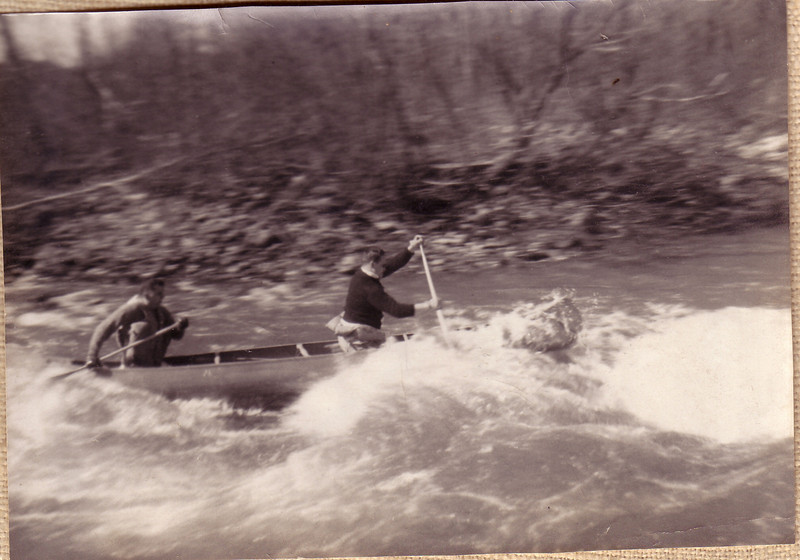 Doug and Barry in the Westfield River Canoe Race