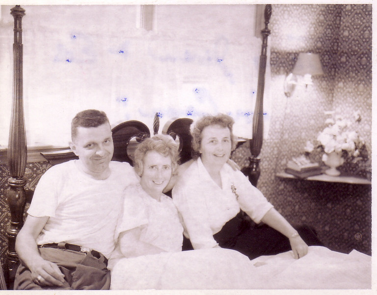 Doug & Jean Johnston, Eleanor Ingraham after Mom came home from the hospital from her hysterectomy...1965?
