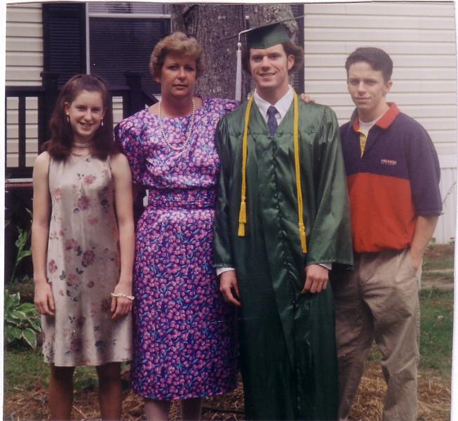 Daughter Laurie Johnston and children:  Jackie, Matt, John
