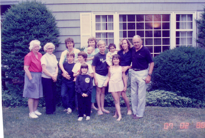Most of the Johnston Family at Beth's House 1988