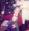 John Curran with Great Grandpa Bill Johnston 1977