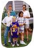 Grandchildren Jackie & John Caracoglia, Douglas Walton, Willa & Leah Tracosas in Oriental