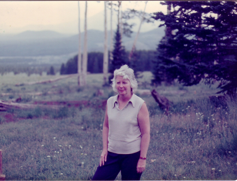 Jean Johnston in Flagstaff AZ visiting Lynn and Pat in 1975
