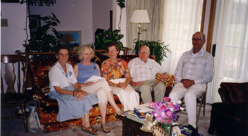 In Alberta:  Rita, Lynn, Lita, Robert Nicholson and ?