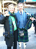 Daughter Beth Tracosas on tartan day with a fellow clansman in NY