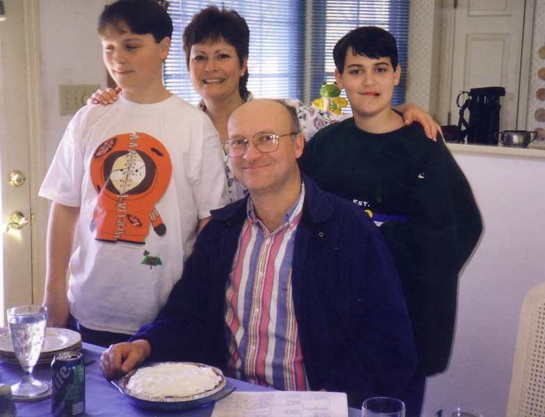 Les Johnston and family in Oriental