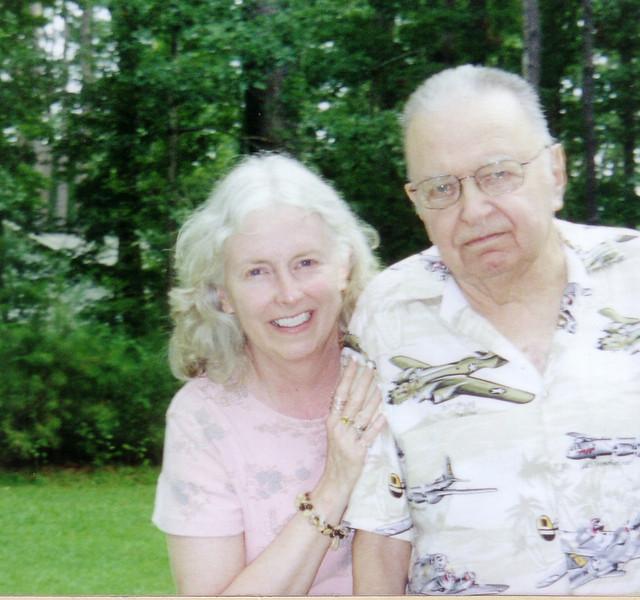 Lynn & Dad in his WWII shirt