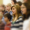 Singing with 7th and 8th grade choir