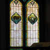 Stained glass windows - left side