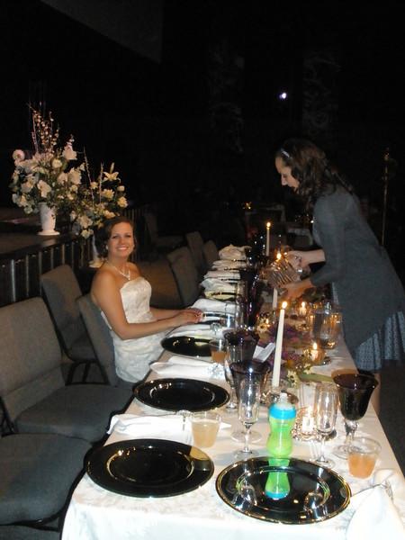 Cinderella (Katie) being served by Megan
