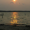 Sunset from Stony Point Resort - Cass lake