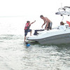 Blake boarding the boat
