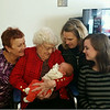 Five Generations: Great Gma Vadis, Nana (Delly) with J-J, Gma (Nana) Julie, Mom-Katie