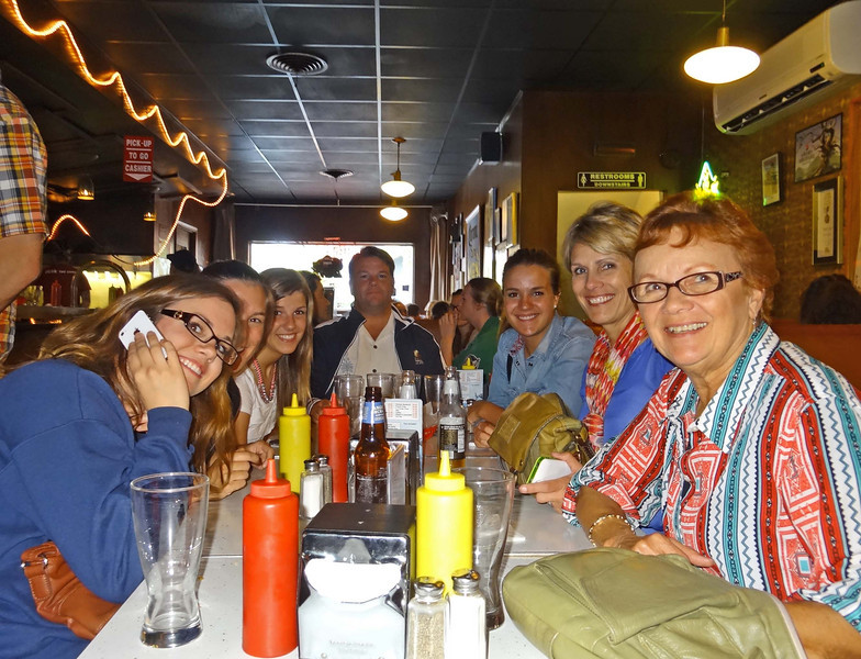 Katie, Kelly, Natalie, Doug, Colie, Julie, Vadis